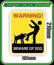 DOG WARNING STICKER BEWARE OF ANIMAL VINYL DECAL NOT A SIGN 21cmx16.5cm