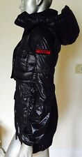 AUTH Burberry Sport Shiny Black Rain Jacket W/ Down Vest Hooded Set Sz 2 XS $850