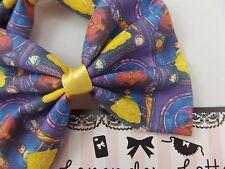 Beauty and the Beast Handmade Fabric Hair Bow Navy Princess Hair Clip