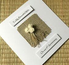4th Wedding Anniversary Card Linen Anniversary Husband Wife Him Her
