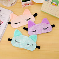 Children Cartoon Soft Cat Sleeping Eye Mask Sleep Shade Blindfold Sleep Aid MA