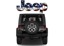 Jeep American Flag Color Decal 6 x 2.5 Inches Wrangler Cherokee New Free Ship