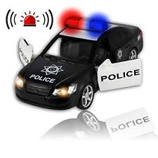 Friction Powered Police Car - With Lights and Sounds - Push & Go Heavy Duty Toy