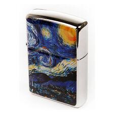 Mother of Pearl Handmade 'Van Gogh The Starry Night' Design Zippo Lighter