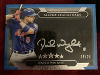 2020 Topps Five Star David Wright Silver Signatures Auto 5/20 Jersey Number 1/1