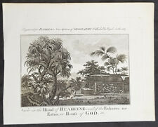 1787 Bankes Antique Print Holy Shrine on Isle of Huahine, Cooks 3rd Voyage 1777
