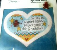 Imaginating Spoiled Kids Counted Cross Stitch Kit Diane Arthurs 1406 Mat & Charm