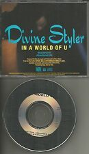DIVINE STYLER In a World of U w/ RARE EDIT PROMO DJ CD single ICE T band member