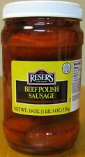 Beef Pickled Polish Sausage by Reser's 2 Pack of 1 Quart Jars