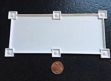 """CP66 7 1/4"""" Ornate Ceiling Panel 4 in Plaster RepliCast Miniatures Dolls House"""