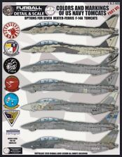"""1/48 Furball F-14 """"Colors and Markings of USN Tomcats PT VII"""" for the Tamiya Kit"""