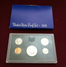 1968 S US Mint Annual 5 Coin Proof Set with 40% Silver Kennedy