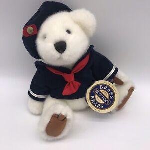 "11"" Pickford Bears Brass Button Plush Taylor Teddy Bear Sailor Jointed G8"