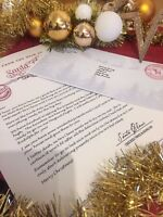 Personalised Christmas Letter from Santa Clause Father Christmas Boy or Girl