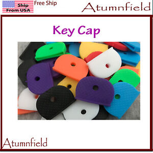 Key Cap ring Rubber Key Identifier Cover, Color Coded Key ID Tags