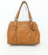 Coach 15409 Madison MIA Camel Leather Carryall Shoulder Bag Handbag