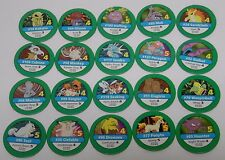 1999 Nintendo Pokemon Master Trainer Board Game REPLACEMENT PART 20 GREEN CHIPS