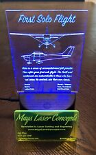 Cessna 172 and 182 First Solo Flight LED Sign