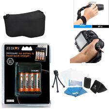 Pro Kodak Pixpro Az252 Az401 Digital camera Accessory Kit Case Battery Charger+