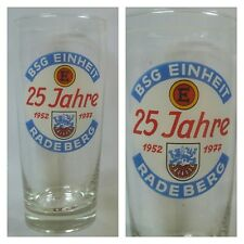 G948 GLAS BSG EINHEIT RADEBERG DFV DFB Fussball Sport DDR Oberliga Liga H14,5cm