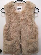 Zara Girls Outerwear Collection Tan Faux Fur Vest Size 11/12