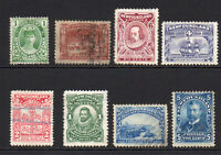 Newfoundland 8 Stamps c1897-08 Mounted Mint Used and Unused (few faults) (6131)