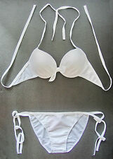 White BIKINI PADDED WIRED Cup Ladies Swimming Costume Swimsuit Beachwear Size L