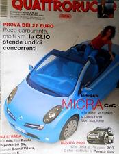 Quattroruote 602 2005 Nissan Micra cabrio. Novità: Peugeot 207, Panda Suv [Q74]