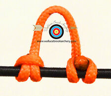 2 Pack Flo. Orange Archery Release Bow String Nock D Loop Bowstring BCY #24