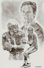 Drew Bledsoe New England Patriots drawing sketch picture ART