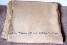 """1 Metre of 40"""" wide, 10 oz Hessian,  for upholstery."""