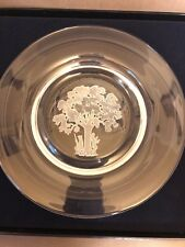 The Liberty Tree Crystal Glass Plate - Franklin Mint - Americana With 1976