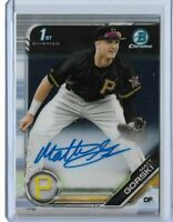 2019 Bowman Draft Baseball Matt Gorski base auto Pittsburgh Pirates 1st bowman