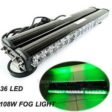 """18""""  Double Side 108W LED Car Truck Bar Beacon Warning Strobe Light Green White"""