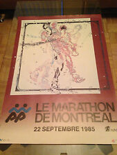 Original  1985 Le Marathon De Montreal poster ~  Rare