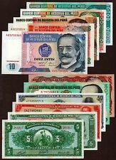 "Peru ""Hyperinflation Sampler"" (1960-88) p11 {pakimPAK} 11 Δ UNC Notes: SA101 [3]"