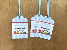 Train Thank You Gift Tags ~ Personalised for Birthday, Baby Shower, Christening
