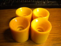 NOS Set of 4 Vintage Yellow Marco Polo MPI Skateboard Wheels Roller Skate Board