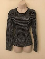 Womans Round Neck Shirt Size Lg Large By Vince Striped