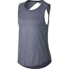 New! Nike Breathe Dri-Fit Women's Lightweight Gray Mesh Running Tank Top, Small