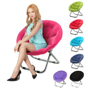 """US 31"""" Oversize Moon Chair Seat Stool Saucer Soft Folding Home Living Room"""