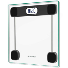 Beautural Precision Digital Body Weight Bathroom Scale with Lighted Display, 400