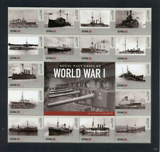 More details for guyana 2015 mnh wwi ww1 royal navy ships first world war 16v m/s ii boats stamps