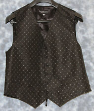 """NEW TEXTURED EFFECT FORMAL OCCASION WAISTCOAT SIZE 42"""" CHEST"""