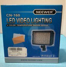 Neewer CN-160 Ultra Alta Potencia LED PANEL REGULABLE Kit de Luz de vídeo