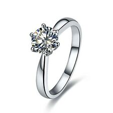 1CT Solid 14K White Gold Diamond Wedding Ring For Bride Last Forever Jewelry