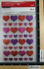 Recollections FOILED HEARTS Stickers LOVE WEDDING ANNIVERSARY
