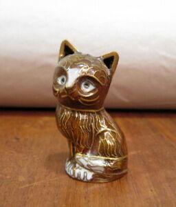 Cloisonné Katze braun