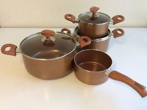 Cucinella Topfset 4tlg Topf 4 Töpfe 3 Deckel Keramikbeschichtung Kupfer R2A4/2
