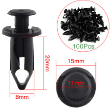 100pcs Plastic Fastener 8mm Push Pin Rivet ATV Fairing Body Fender Retainer Clip